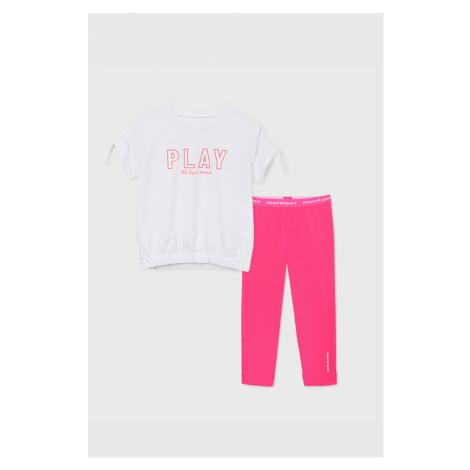 KOMPLET sportowego dziewczęcego T-shirtu i legginsów Play
