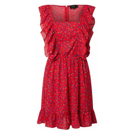 AX Paris Letnia sukienka ognisto-czerwony / królewski błękit / pastelowy zielony