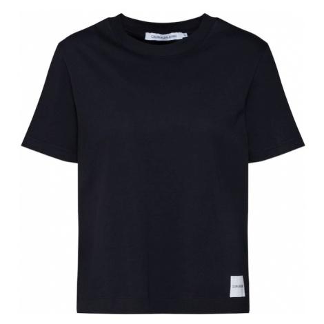 Calvin Klein Jeans Koszulka 'CORE STRAIGHT FIT TEE' czarny