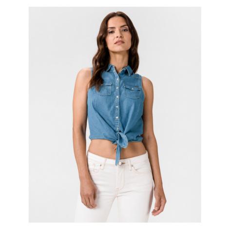 Pepe Jeans Wave Crop top Niebieski