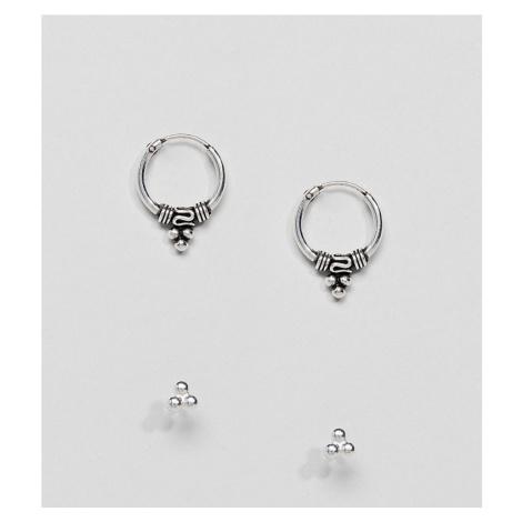 Kingsley Ryan Sterling Silver Bali Hoop & Stud Earrings Set