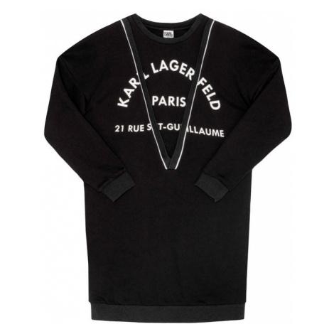 KARL LAGERFELD Sukienka codzienna Z12150 D Czarny Regular Fit