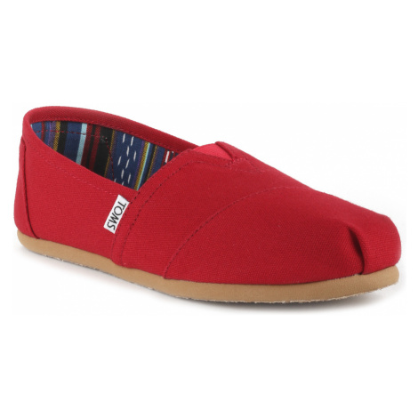 TOMS Classic Slip On Buty Czerwony