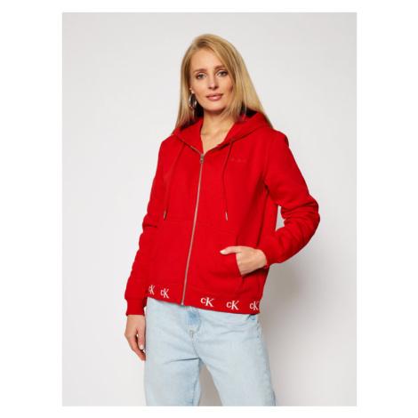 Calvin Klein Jeans Bluza J20J215074 Czerwony Regular Fit