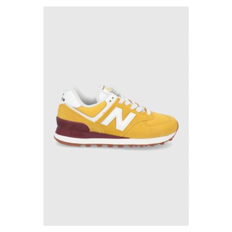 żółte damskie obuwie sneakers