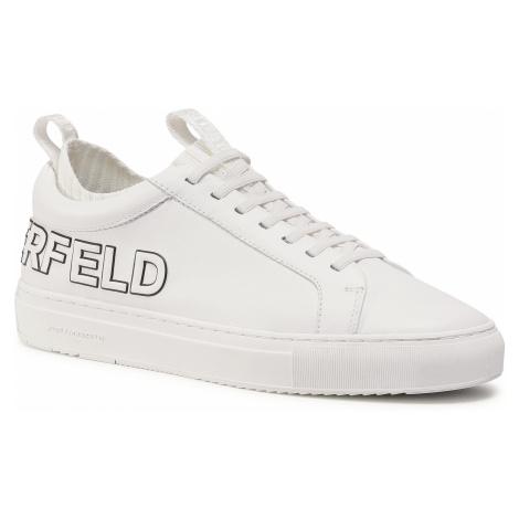 Sneakersy KARL LAGERFELD - KL51026 White Lthr 011