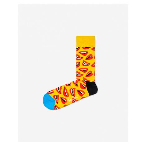 Happy Socks Lips Skarpetki Żółty