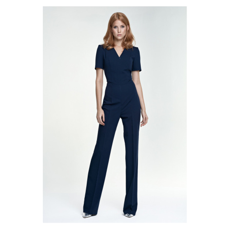 Nife Woman's Overall Km04 Navy Blue
