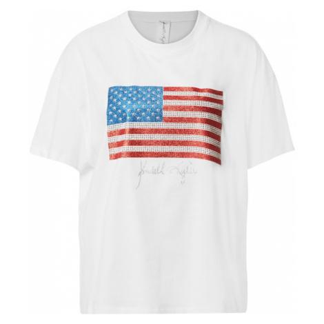 KENDALL + KYLIE Koszulka offwhite / niebieski / czerwony
