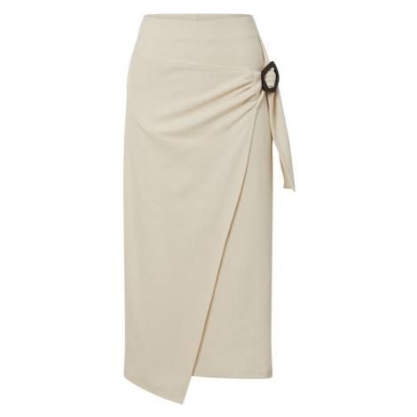 EDITED Spódnica 'Navina' biały / kremowy / beżowy