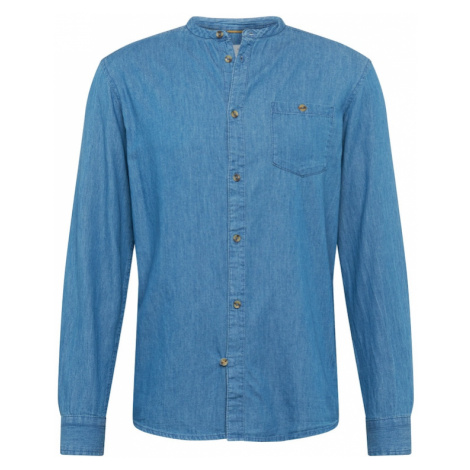 !Solid Koszula niebieski denim