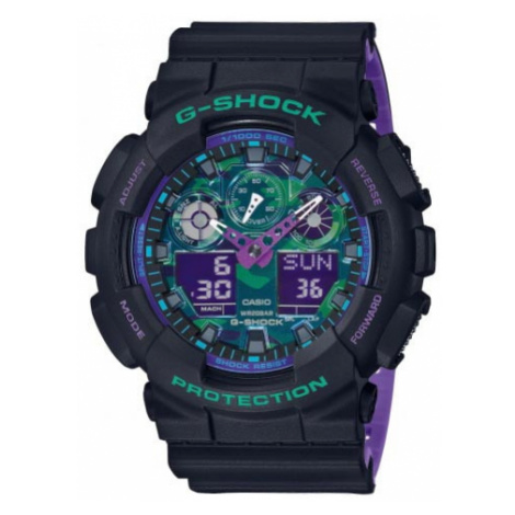 Zegarek G-SHOCK - GA-100BL-1AER Black/Black Casio