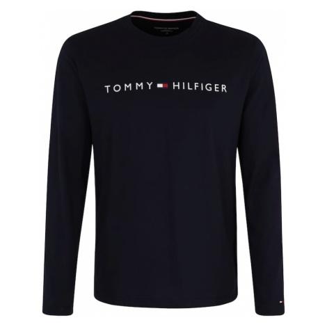 Tommy Hilfiger Underwear Piżama długa 'CN LS TEE LOGO' granatowy