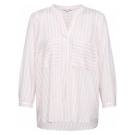 TOM TAILOR DENIM Bluzka różowy pudrowy / biały