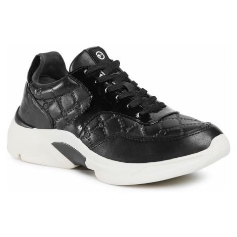 Sneakersy TAMARIS - 1-23720-25 Black Emb/Pat 035