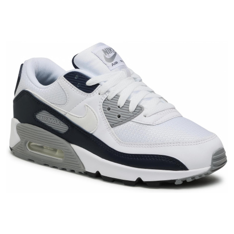 Buty NIKE - Air Max 90 CT4352 100 White/White/Particle Grey