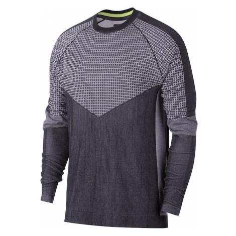 Nike Sportswear Bluzka sportowa 'TCH PCK TOP LS KNIT SC' szary / czarny