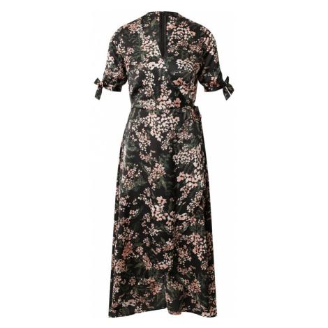 AX Paris Sukienka czarny / różowy / zielony