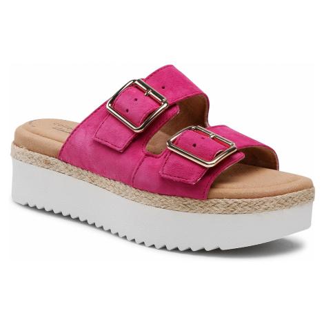 Klapki CLARKS - Lana Beach 261606274 Hot Pink