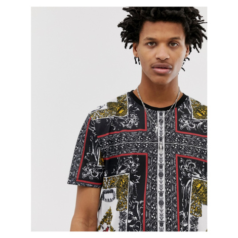 ASOS DESIGN relaxed t-shirt with all over baroque print