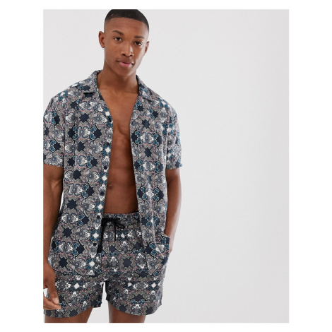 Another Influence co-ord geo print short sleeve shirt