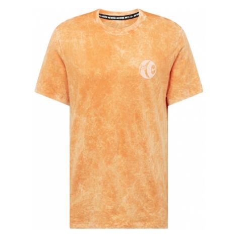 NIKE Koszulka funkcyjna biały / pomarańczowy