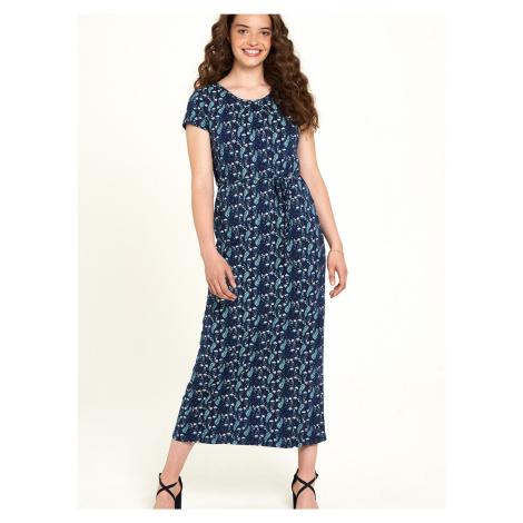 Tranquillo niebieski maxi kwiecista sukienka