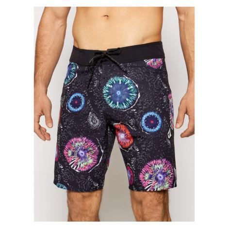 Volcom Szorty kąpielowe Coral Morph 20 A0812107 Czarny Regular Fit