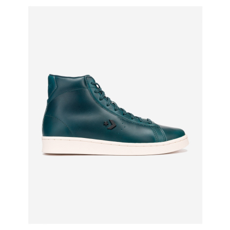 Converse zielony skórzane męskie trampki botki Pro Leather Unlined