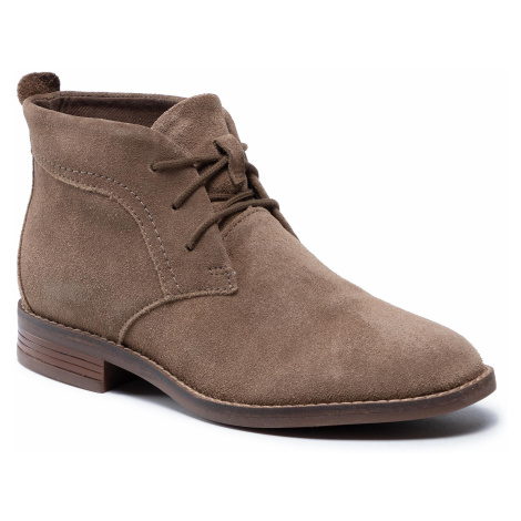 Botki CLARKS - Brean Lace 261600504 Taupe Suede