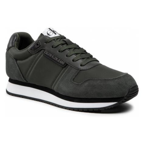 Calvin Klein Jeans Sneakersy Runner Sneaker Laceup YM0YM00038 Zielony