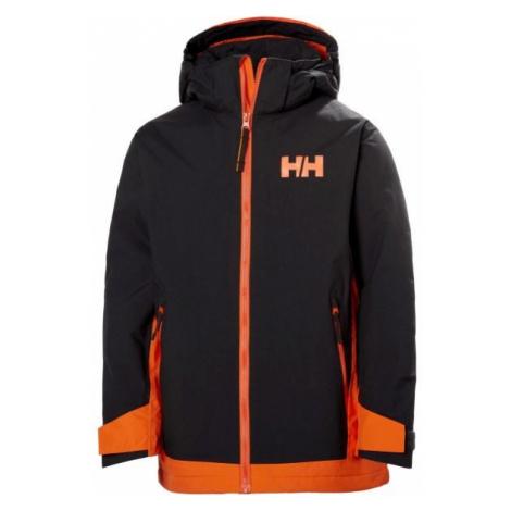 Helly Hansen JR HILLSIDE JACKET czarny 12 - Kurtka narciarska dziecięca