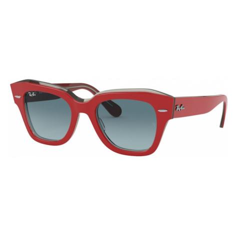 Ray-Ban Okulary przeciwsłoneczne 'State Street' szary / czerwony