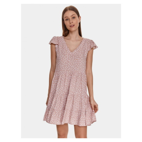 TOP SECRET różowy kropki sukienka
