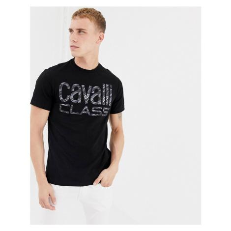 Cavalli Class t-shirt in black with large logo Roberto Cavalli