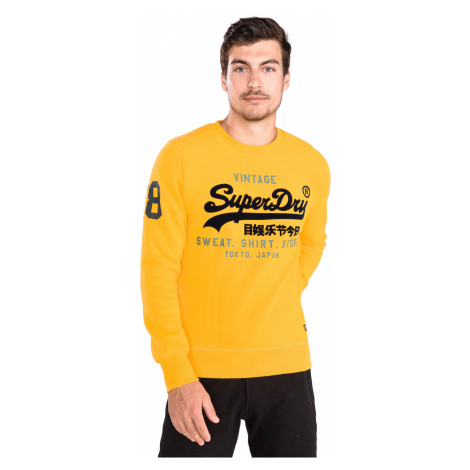 SuperDry Bluza Żółty