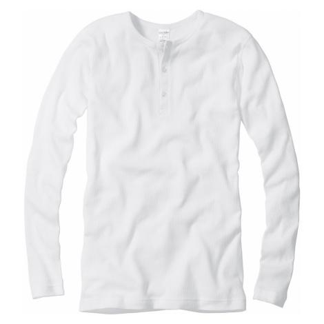 Męski prążkowany T-shirt z długimi rękawami