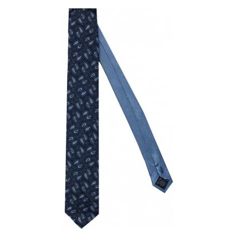 Tommy Hilfiger Tailored Krawat Paisley TT0TT07642 Granatowy
