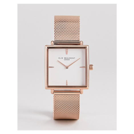 Elie Beaumont EB818.4 Watch With Rose Gold Case And Mesh Strap