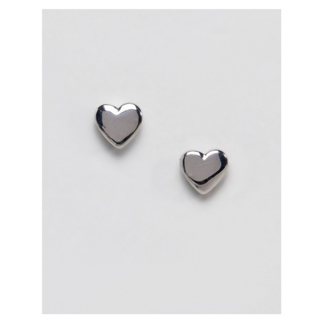 Ted Baker Harly Tiny Heart Stud Earrings in Silver