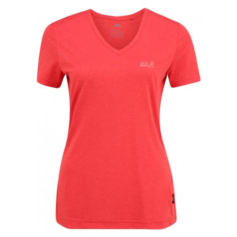 JACK WOLFSKIN Koszulka funkcyjna 'Crosstrail' czerwony