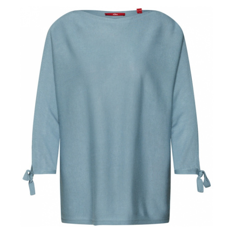 S.Oliver RED LABEL Sweter podpalany niebieski