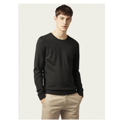 Boss Sweter Leno-P 50378575 Czarny Slim Fit Hugo Boss
