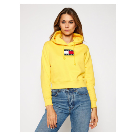 Tommy Jeans Bluza Flag DW0DW08975 Żółty Regular Fit Tommy Hilfiger