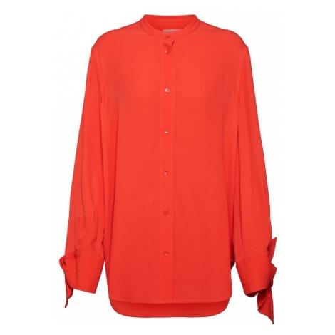 Calvin Klein Bluzka 'DRAPED CUFF BLOUSE LS' czerwony