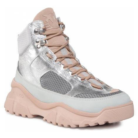 Sneakersy PINKO - Love Trek High 1 Al 20-21 PBKSH 1P21Y0 Y6PW Grey II5