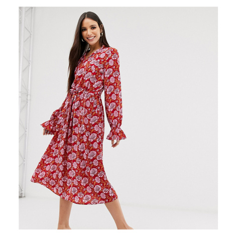 Y.A.S Tall floral print long sleeve smock dress