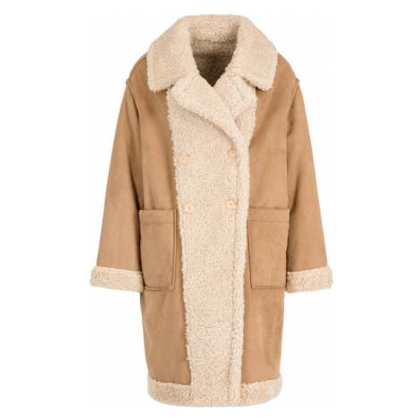 My Twin Płaszcz zimowy 192MT2020 Beżowy Regular Fit