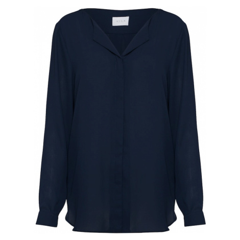 VILA Bluzka ciemny niebieski
