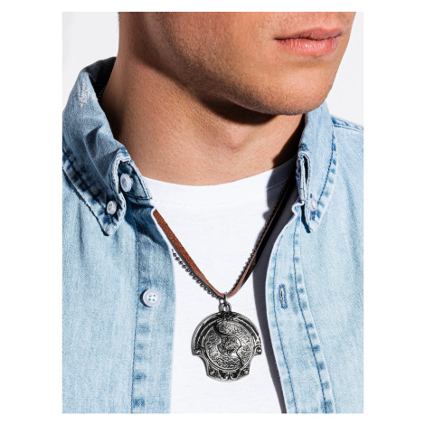 Ombre Clothing Men's necklace on the leather strap A361